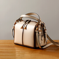 小包包女2018新款潮复古枕头包牛皮手提包单肩斜跨女包