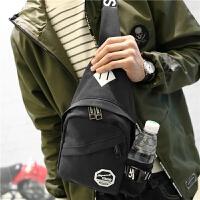 胸包 韩版潮包 女包斜挎包单肩包男休闲运动包女士包小包 纯色黑色