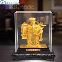 中式摆件摆件工艺品财神爷佛像沙金镀金开业办公室风水礼品开业雕刻桌面工艺礼