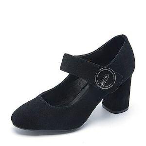 Belle/百丽春专柜同款羊绒皮革女皮鞋R3B1DAQ7