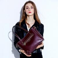 383欧美大包新款时尚简约女士单肩斜跨包真皮女包大容量手提包