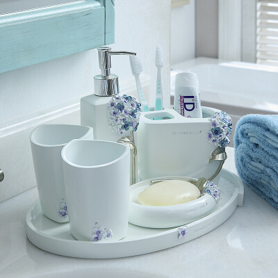 创意欧式结婚卫浴五件套浴室用品套件牙具卫生间漱口杯洗漱套装 一般在付款后3-90天左右发货,具体发货时间请以与客服协商的时间为准