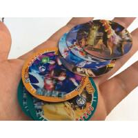 1赛尔号奥特曼铠甲勇士小圆卡片纸卡加厚塑料卡游戏王牌