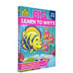 【4-8岁书写练习】School Zone Big Handwriting Workbook 字母词汇书写练习册 儿童
