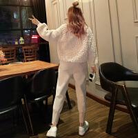 女装春装新款套装时尚bf气质社会卫衣哈伦小脚裤时髦两件套潮