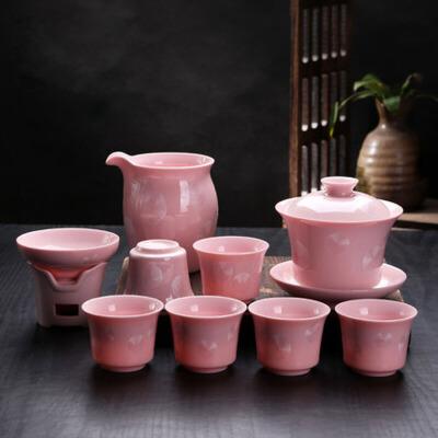 结晶釉普洱茶具套组陶瓷盖碗茶杯茶海茶漏功夫茶具整套装家用