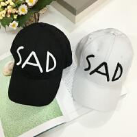 韩国刺绣字母弯檐鸭舌帽街头嘻哈棒球帽子潮春夏天情侣遮阳帽学生