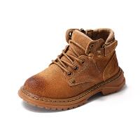 男童马丁靴2018秋冬新款儿童英伦风短靴春秋加绒小童女童靴子
