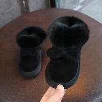 女儿童雪地靴2018冬季新款韩版蝴蝶结公主棉靴保暖冬靴子
