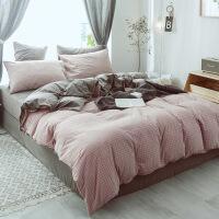 新品水洗棉拼天鹅绒四件套北欧简约秋冬保暖加厚裸睡冬季床上用品
