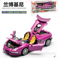 兰博基尼合金车模跑车儿童宝宝玩具车回力声光金属小汽车模型仿真