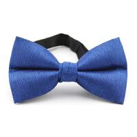 新郎结婚礼服主持司仪伴郎服领结宝蓝色男士英伦西装蝴蝶结领结