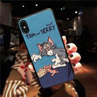 浮雕猫和老鼠iphone xs max苹果x手机壳情侣xr卡通8plus可爱7全包 6/6s 浮雕-奶酪猫鼠