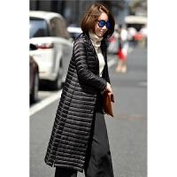 秋冬新款韩版立领轻薄过膝加长款羽绒服女士轻便修身显瘦外套