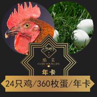 酷菜年卡+24只2年鸡+全年360枚绿壳鸡蛋