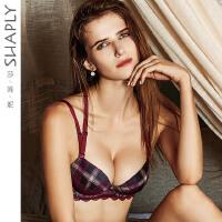 莎莲妮专柜同款性感交叉美背文胸复古内衣女薄款聚拢调整型胸罩