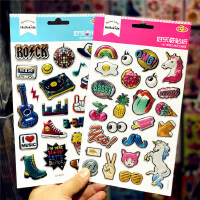 文具龙彩儿童立体泡泡贴纸行李箱贴表情贴装饰动物粘贴潮流贴