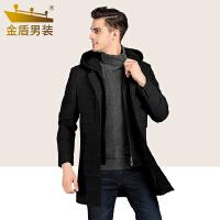 男装羽绒服2018新款加厚中长款可脱卸帽休闲保暖外套