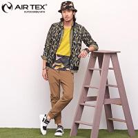 AIRTEX亚特户外男款时尚运动针织衫春夏季迷彩透气弹力休闲潮外套