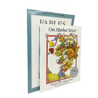 英文原版 Fables!On Market Street等2册 艾诺洛贝尔凯迪克大奖作品