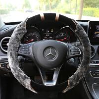 汽车方向盘套冬季短毛绒男女通用冬天保暖防滑轩逸卡罗拉朗逸把套