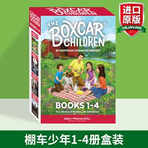 棚车少年1-4册盒装 英文原版 The Boxcar Children Books 英语章节桥梁书 美国经典儿童读物 英文版原版书籍 励志故事课外阅读书