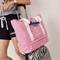 出差旅行袋大容量手提包妈咪包帆布包斜跨单肩包拉杆包行李袋女