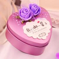 【支持礼品卡】结婚庆婚礼喜糖盒子铁盒 个性糖果盒包装盒子创意心形红色欧式km4