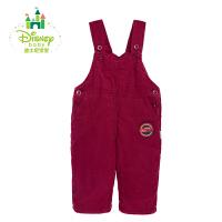 迪士尼Disney童装 秋冬夹棉保暖灯芯绒背带裤154K667
