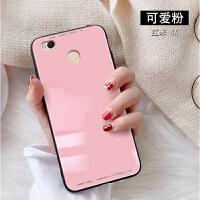 红米4x手机壳redmi小米x4保护套 MAE136 纯色玻璃5.0寸hongmi 4x 软边HM