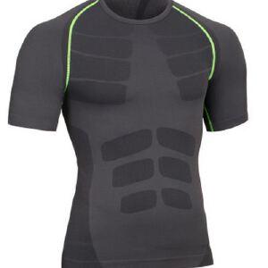 新款男士紧身运动短袖塑身塑型衣轻压舒适透气速干衣MA11