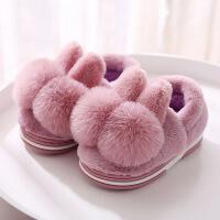 №【2019新款】冬天儿童穿的棉拖鞋冬女可爱男童宝宝毛毛拖鞋包跟女童室内秋