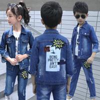 童装男童女童秋装牛仔运动套装儿童男孩子时髦两件套