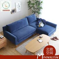 【一件3折】北欧糖果色小户型超舒适布艺沙发DS105 北欧日式单人位双人位三人位