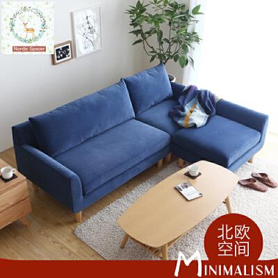 【限时直降3折】北欧糖果色小户型超舒适布艺沙发DS105 北欧日式单人位双人位三人位 支持* 色彩美学 人体工学 送货到家