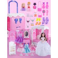 小伶拉杆儿童玩具箱公主娃娃屋女孩过家家小玩具3-9岁生日礼物