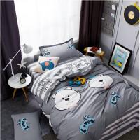 纯棉学生宿舍三件套1.01.2m上下铺3件套寝室单人床单全棉被套四件