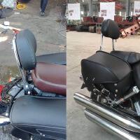 力帆V16改装后靠背摩托车保险杠前护杠换挡壁货架侧边箱LF250-E D
