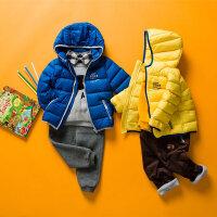 美特斯邦威旗下Moomoo童装男童羽绒外套新款儿童宝宝冬款纯色羽绒服男幼童