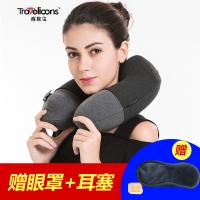 便携旅游头枕颈椎枕飞机枕头自动充气U型枕按压旅行护颈枕