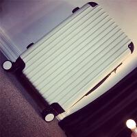 拉杆箱万向轮旅行箱男女行李箱学生密码箱子皮箱包20 24 韩版 白色 磨砂白色