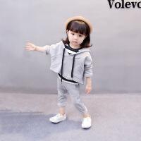 儿童女宝宝春秋装衣服0-1-2-3周岁韩版潮4女童三件套洋气套装yly