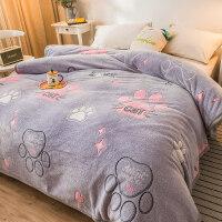 1.2米毛毯珊瑚绒毯子冬季法兰绒毛毯加厚保暖床单人宿舍学生空调午睡小被子