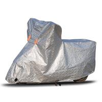 电轿外套电动车防雨罩防晒防尘防盗加厚踏板摩托车罩电瓶车自行车铝箔车衣 银色 L (适合车型长度1.8-2米)