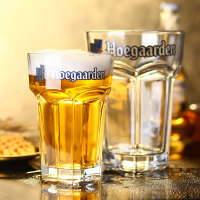 比利时福佳白啤酒杯创意家用玻璃大精酿扎啤杯个性六角啤酒杯kb6