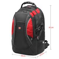 商务双肩背包 男双肩包维士高中学生书包十字休闲旅行包大容量电脑包背包
