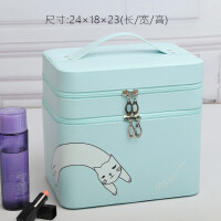化妆包大容量韩国可爱便携大号化妆箱手提双层化妆品收纳箱