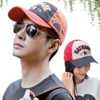 帽子男女夏天棒球帽韩版潮时尚字母数字刺绣休闲遮阳鸭舌太阳嘻哈帽