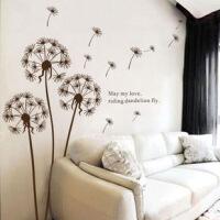 经典蒲公英可移除饰墙贴 客厅电视沙发墙书房卧室房间壁贴画