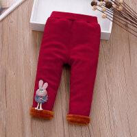 一岁女宝宝加绒打底裤0-1-2-3-4岁女小童秋冬装长裤婴儿休闲裤子